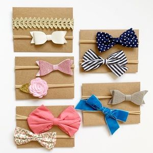 Other - Set of 10 baby headbands -bows, flowers + glitter